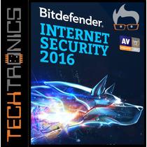 Bitdefender Internet Security 2016 1pc X 1año No Eset Mcafee