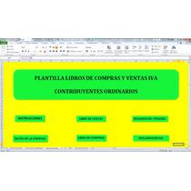 Libro De Compras Y Ventas Iva,en Excel