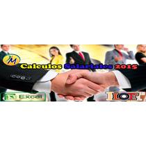 Calculos Salariales En Excel Liquidaciones + Prestaciones