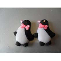Apliques De Pinguinitas - Masa Flexible 4cm Precio Docena