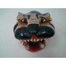 Impresionante Mascara/escultura De Madera De Oaxaca, Mexico