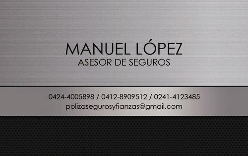 Asesor Seguros Póliza Fianzas Corredor Manuel Lopez Auto