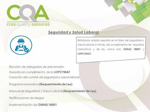 Asesoría En Lopcymat Y Seguridad Laboral.