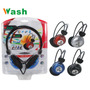 Audifono Bajo+microfono En Cable, Color Uv, Wash