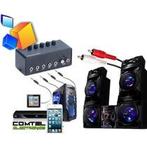 Selector De Audio Genius 5 Salidas Switching Box Estereo