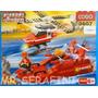 Lego Cogo Escuadron De Bomberos En Lancha Y Helicoptero