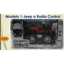 Carro Control Remoto Jeep Rústico Enciende Las Luces