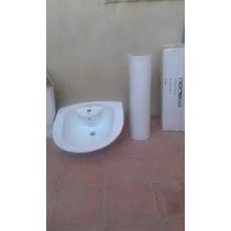 Vendo Lavamanos Blanco Con Pedestal
