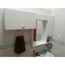 Muebles De Baño Aéreos Con Espejos Y Auxiliar