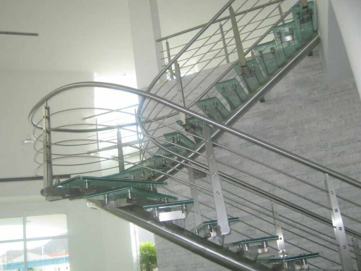 Barandas mesas y pasamanos en acero inoxidable caracas - Pasamanos de acero inoxidable para escaleras ...