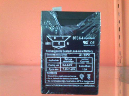 Bateria Lamparas.de Emergencia 6v-4ah