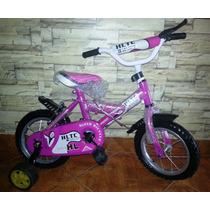 Bicicletas Para Niñas Y Niños Rin 12, 16 Y 20