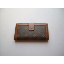 Monedero Billetera Louis Vuitton Lv De Dama En Cuero