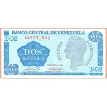 Billete 2 Bolivares Octubre-5-1989 Aw7 Unc.