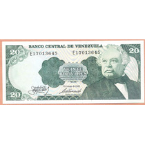 Billete 20 Bolivares Octubre-6-1981 E8 Unc.
