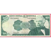 Billete 20 Bolivares Abril-23-1974 C7 Vf