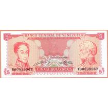 Billete 5 Bolivares Septiembre-21-1989 W8 Unc. (reposicion)