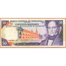 Billete 50 Bolivares Junio-7-1977 G7 Vf