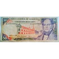1998 5 De Febrero V Billete De 50 Bolívares