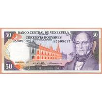 Billete 50 Bolivares Junio-7-1977 H7 Au