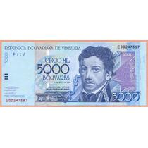 Billete 5.000 Bolivares Mayo-25-2004 E8 Au+