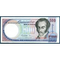 Billete De 500 Bolívares Junio 5 De 1995 Serie P8 Au