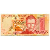 Billete De 50.000 Bolívares De 1998 - 1ra Emisión Serial A8