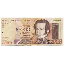 Billete De 10.000 Bolívares Mayo 25 De 2000 Serial A8