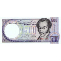 ( Geraval ) Billete De Venezuela Bs. 500 Mayo 31 1990 Y8