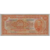 Buen Billete 500 Bolívares, Marzo 18 1969 C6 Canario