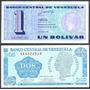 Pareja De Billetes 1 Y 2 Bolívares De 1989 - Tinoquitos