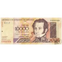 Billete De 10.000 Bolívares Agosto 13 De 2002 Serial D8