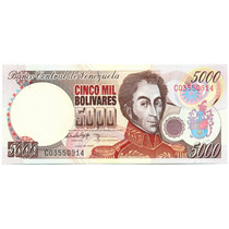 Buen Billete De 5000 Bolívares Junio 16 De 1997 - Serial C8