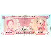 R 1989 21 De Septiembre Billete De 5 Bolívares