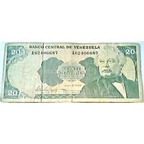 1995 5 Junio A Billete De 20 Bolívares