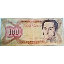 1992 8 De Diciembre H Billete De 100 Bolívares