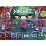 Lego Ninjago Set 6 Figuras 5 Cm Con 4 Armas Con Lanzador