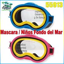 Mascara Natacion Para Niños Buceo Intex 55913 Fondo Del Mar