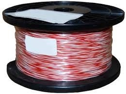 Cable 1 Par Jumper Blanco / Negro, Bobina 250 Mt Siemens 6mm