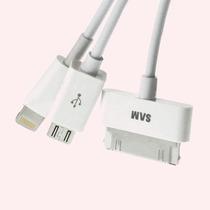 Cable Cargador Usb 3 En 1 Iphone 5 Ipod 4 Touch Micro Usb