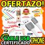 Wow Cable Iphone 5 6 Plano Certificado Yoobao Original Usb