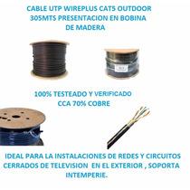 Cable Utp Cat 5e Outdoor 305 Metros Marca Wireplus+
