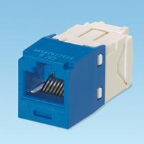 Panduit Jack Mini-com, Cat 6, Utp, 8 Pos 8 Wire, Blue/azul
