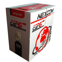 Cable Utp Cat 6 Nexcom 305 M, 1000ft, Cctv, Cable De Red