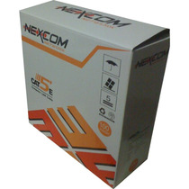 Bobina Cable Nexcom Utp Cat 5e 100 Mts