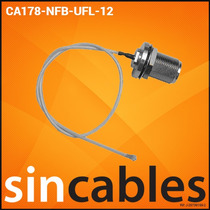 Mikrotik Pigtail U.fl A N-hembra 30cm Ca178-nfb-ufl-12