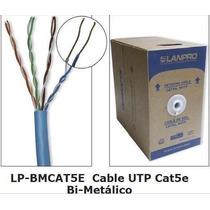 Cable Lanpro Utp Bobina 305mts Cat 5e Azul