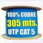 Bobina Cable Utp Cat5e 100%cobre 305mts Rj45 Azul Cctv/redes