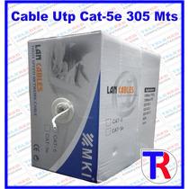Bobina Cable Utp Cat-5e 305 Mts Mki Internet Cctv Redes