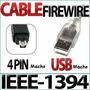 Cable Firewire Ieee 4 Pin (1394) A Usb Macho / Macho